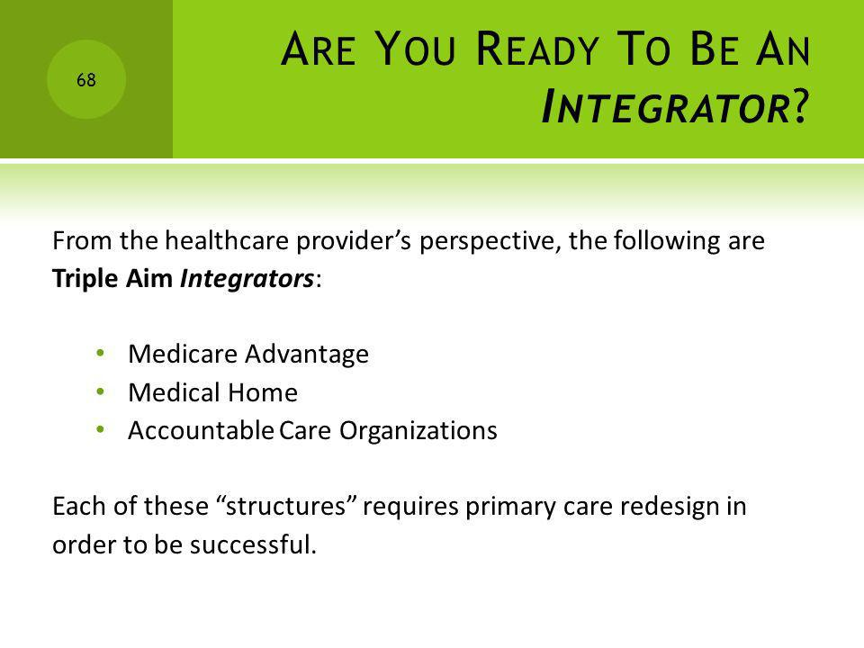Are You Ready To Be An Integrator