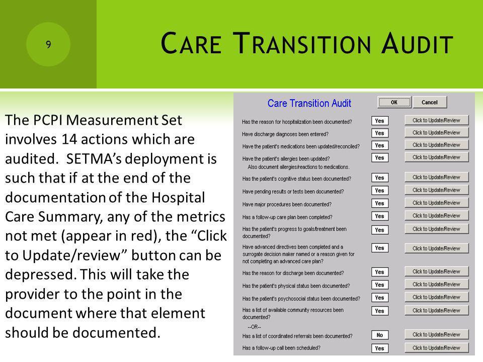 Care Transition Audit