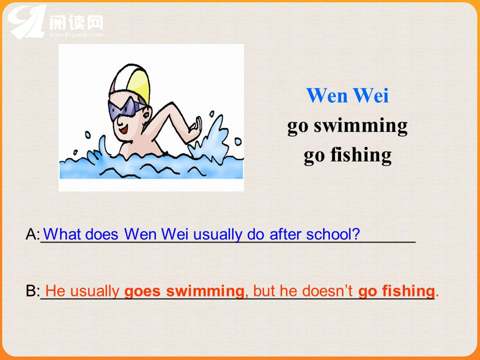 Wen Wei go swimming go fishing