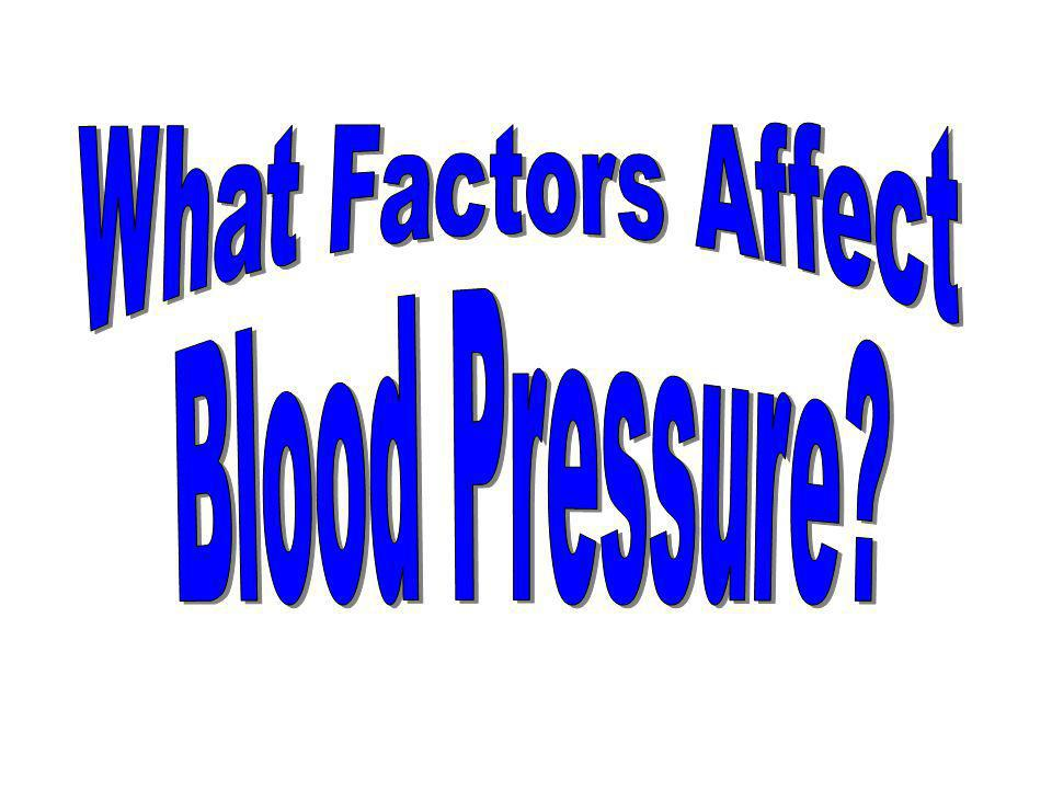 What Factors Affect Blood Pressure