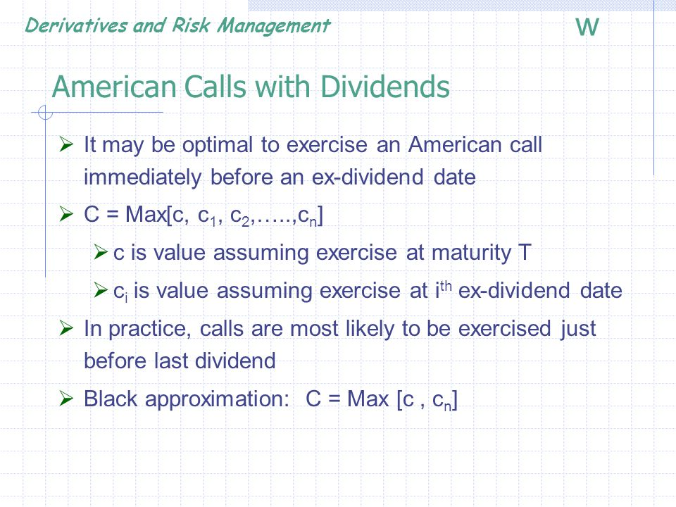 American Calls with Dividends