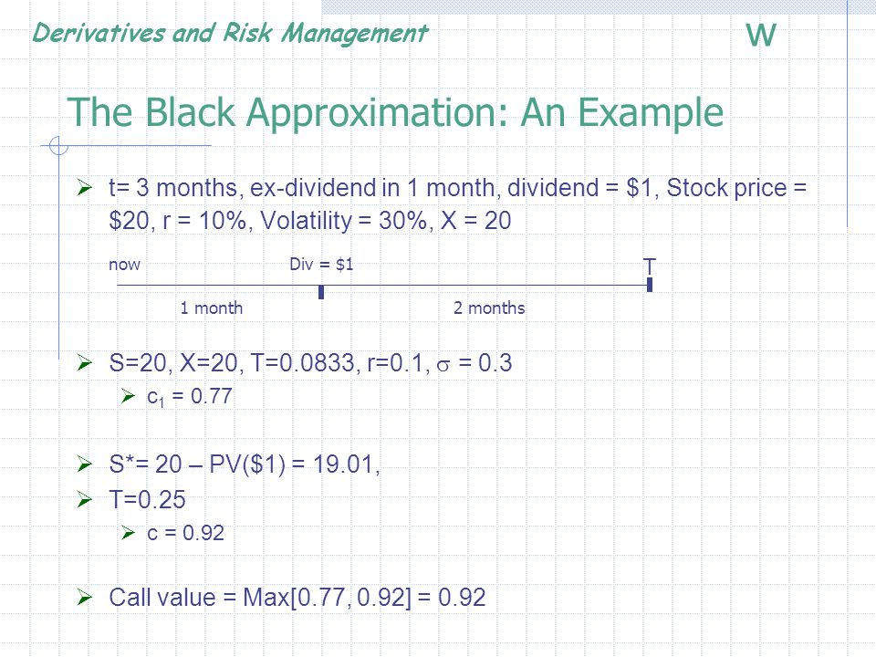 The Black Approximation: An Example