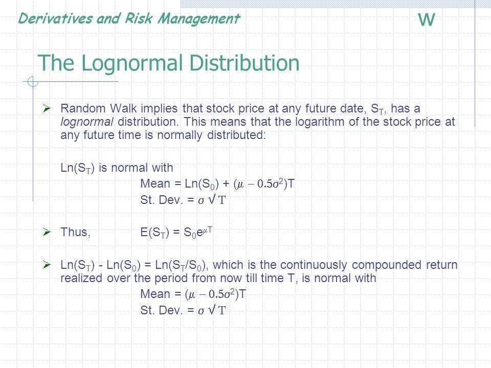 The Lognormal Distribution