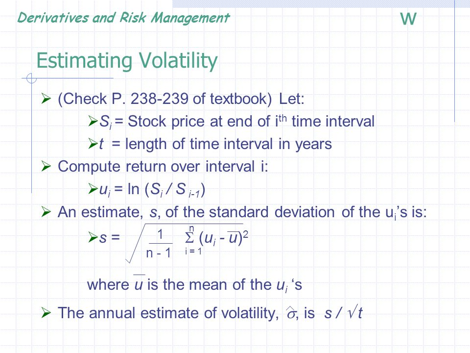 Estimating Volatility
