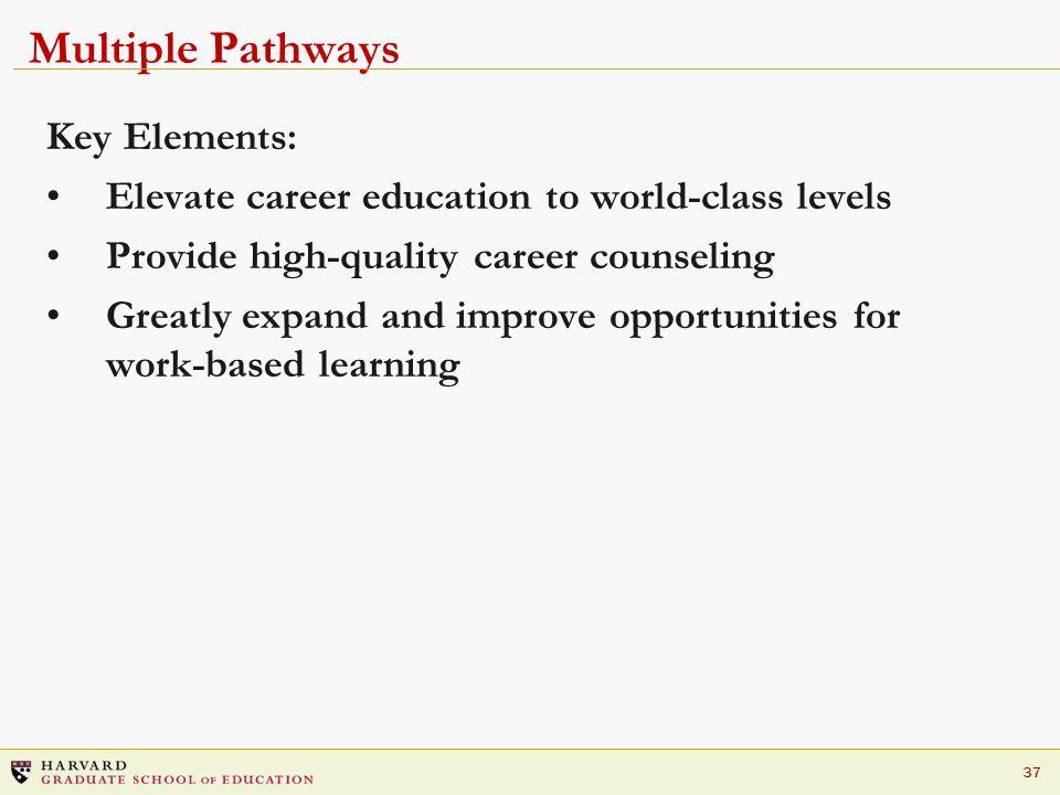 Multiple Pathways Key Elements: