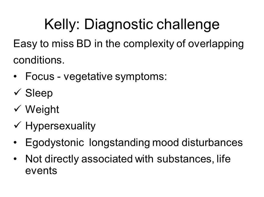 Kelly: Diagnostic challenge