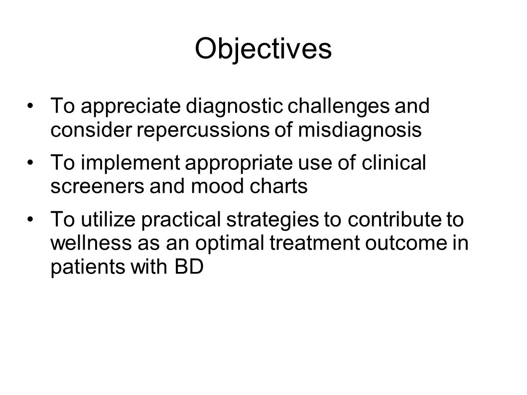 Objectives To appreciate diagnostic challenges and consider repercussions of misdiagnosis.