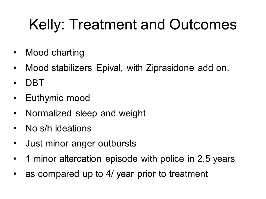 Kelly: Treatment and Outcomes