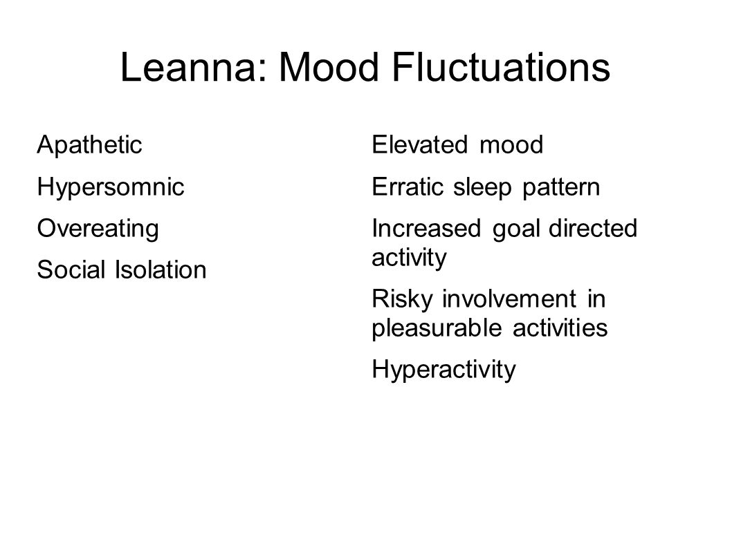 Leanna: Mood Fluctuations