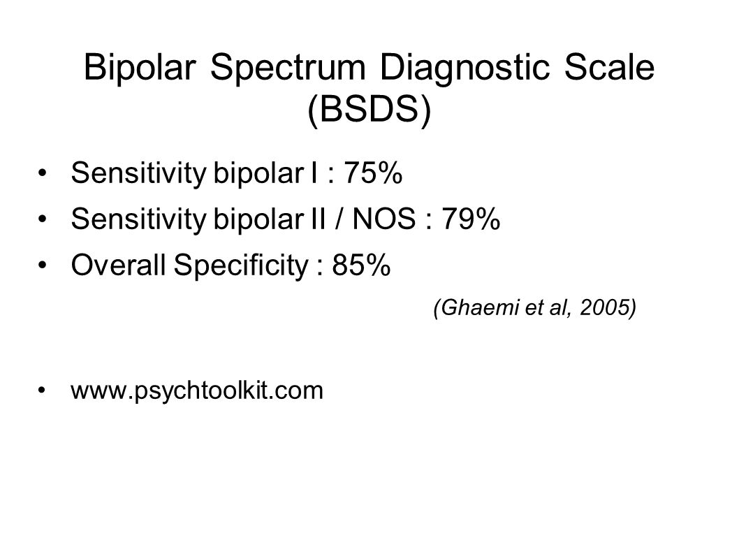 Bipolar Spectrum Diagnostic Scale (BSDS)