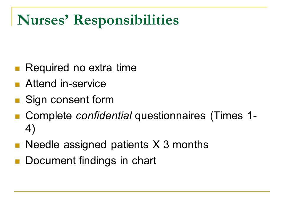 Nurses' Responsibilities