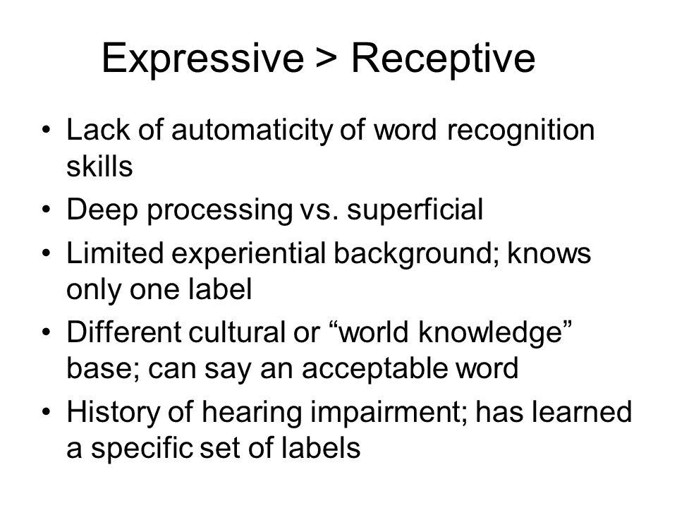 Expressive > Receptive