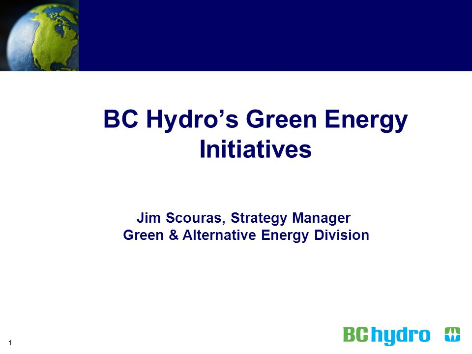 BC Hydro's Green Energy Initiatives