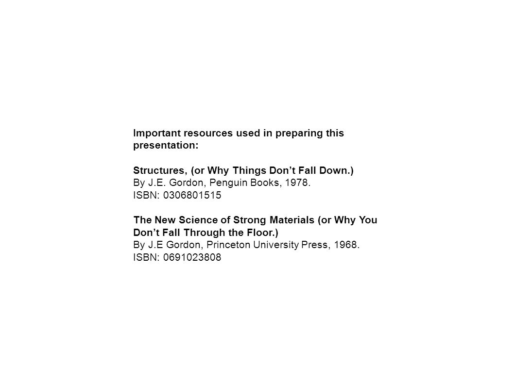 Important resources used in preparing this presentation: