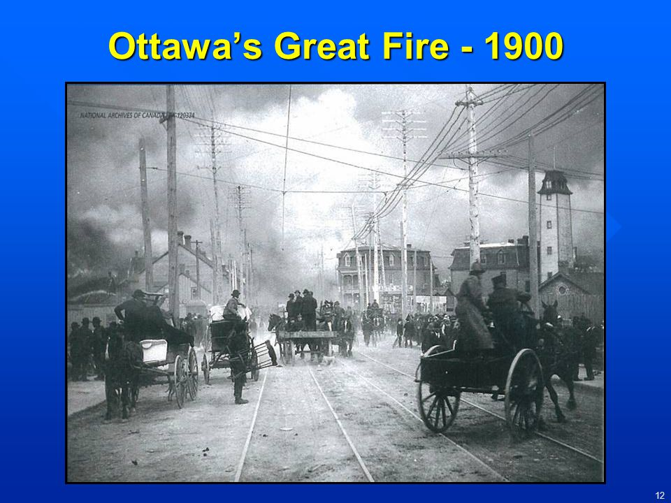 Ottawa's Great Fire - 1900