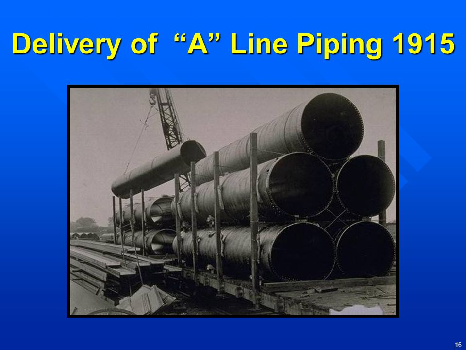 Delivery of A Line Piping 1915