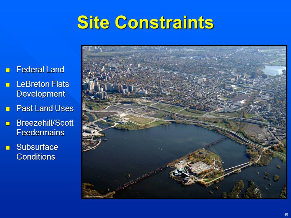 Site Constraints Federal Land LeBreton Flats Development