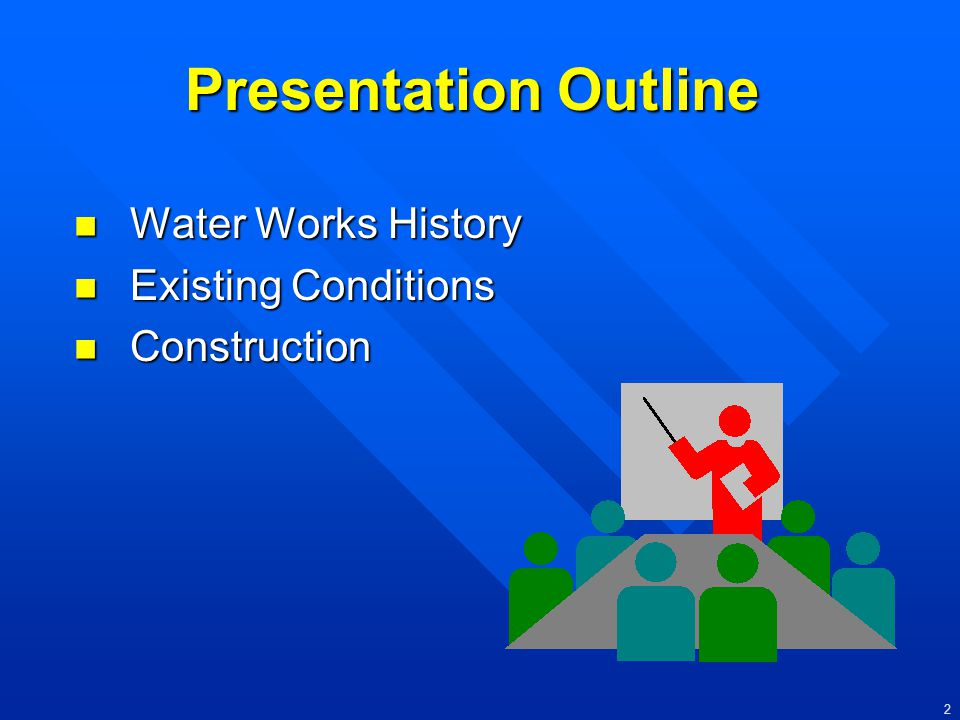 Presentation Outline Water Works History Existing Conditions