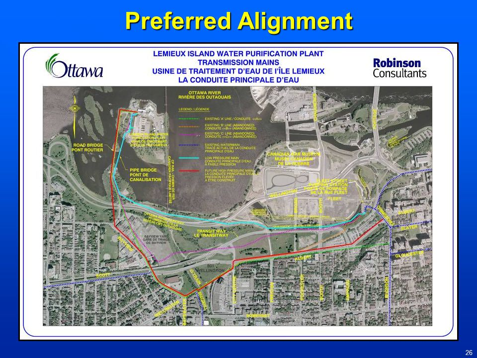 Preferred Alignment Introduce the location of the aqueduct, Parkway, rail line, transitway, major roads.