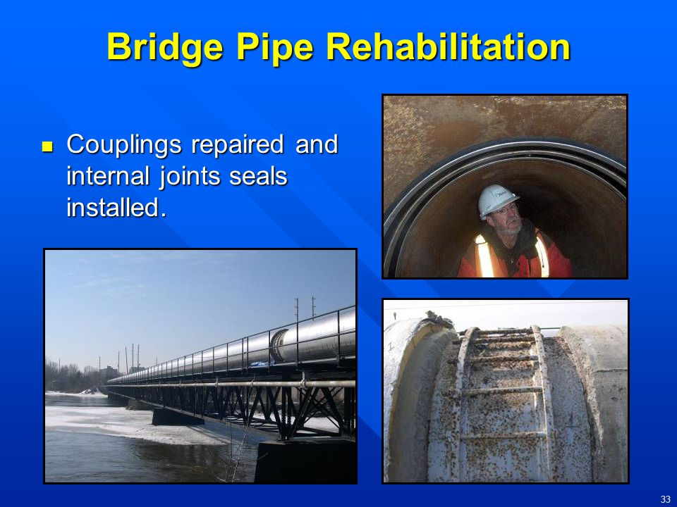 Bridge Pipe Rehabilitation