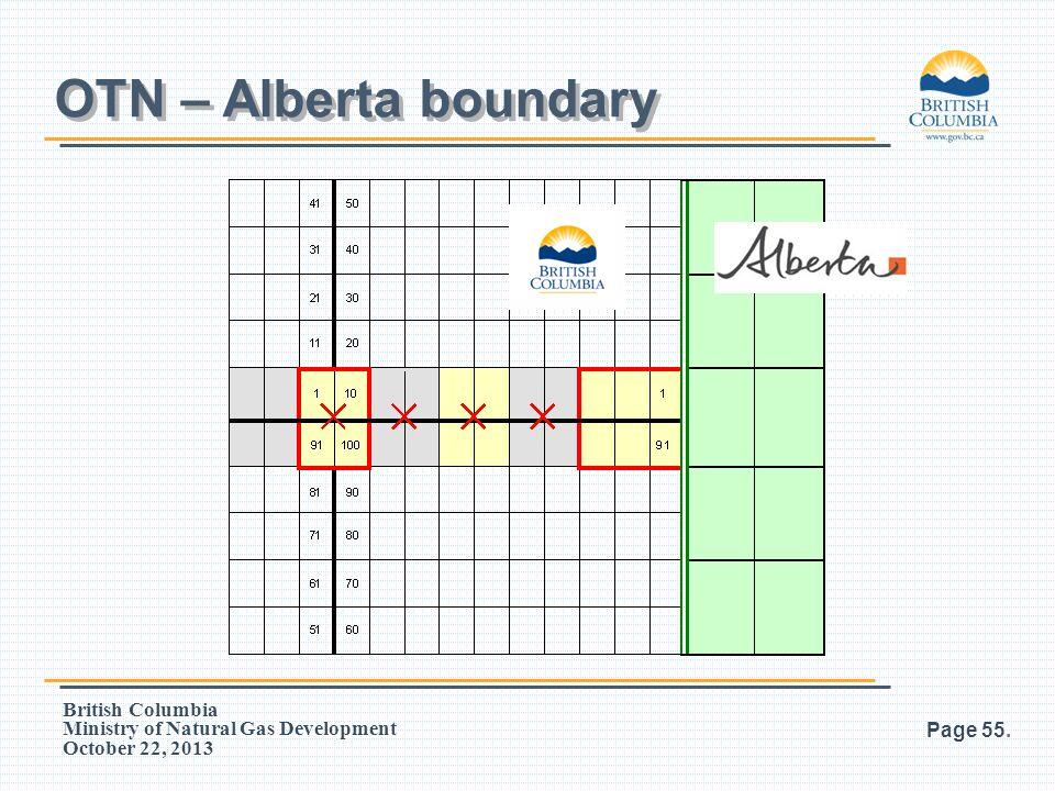 OTN – Alberta boundary