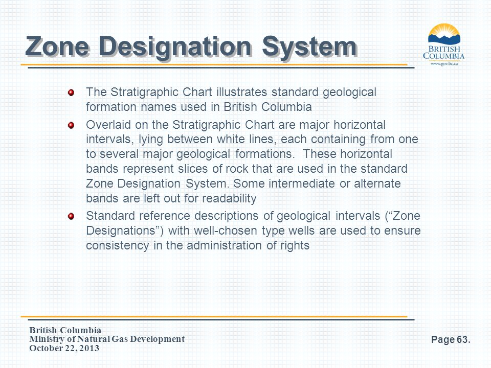 Zone Designation System