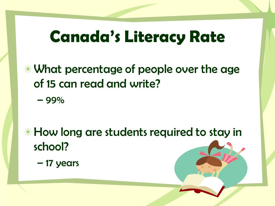 Canada's Literacy Rate