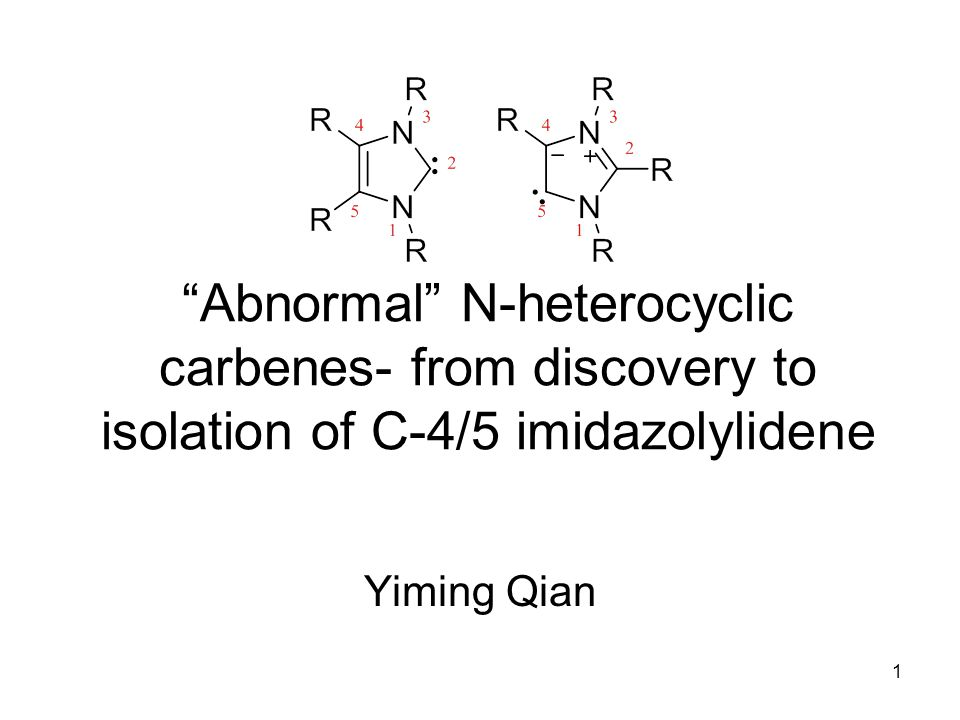 Abnormal N-heterocyclic carbenes- from discovery to isolation of C-4/5 imidazolylidene