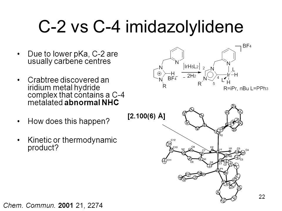 C-2 vs C-4 imidazolylidene