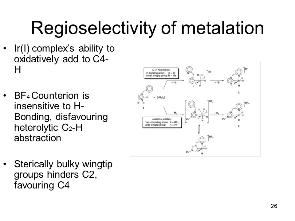 Regioselectivity of metalation