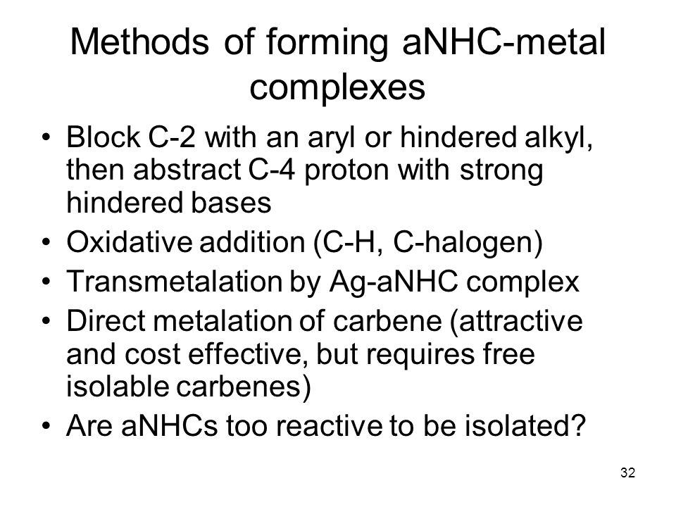 Methods of forming aNHC-metal complexes