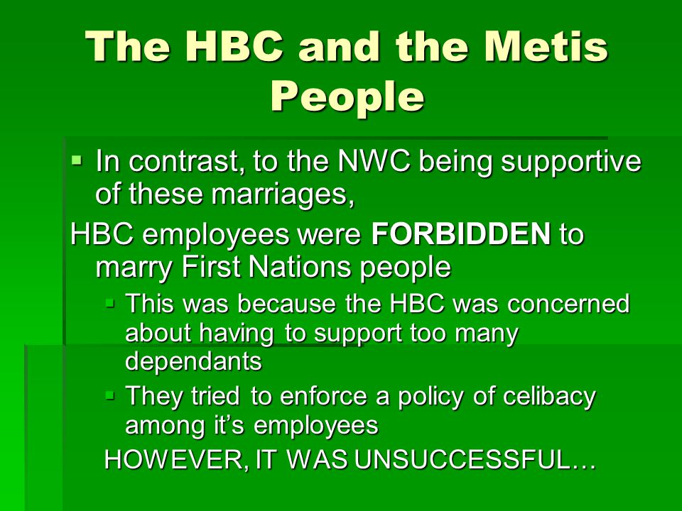 The HBC and the Metis People