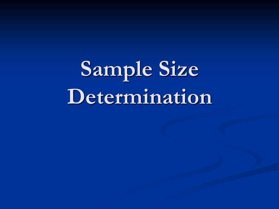 Sample Size Determination
