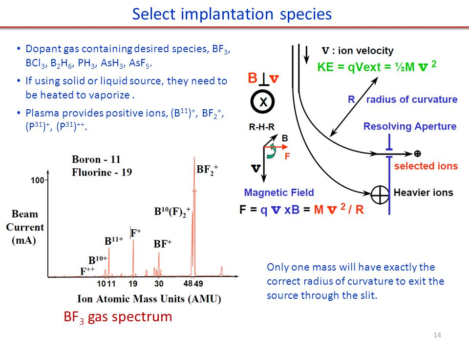 Select implantation species