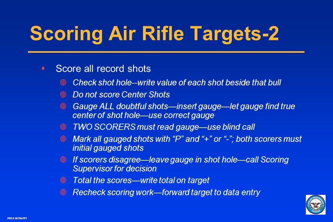 Scoring Air Rifle Targets-2