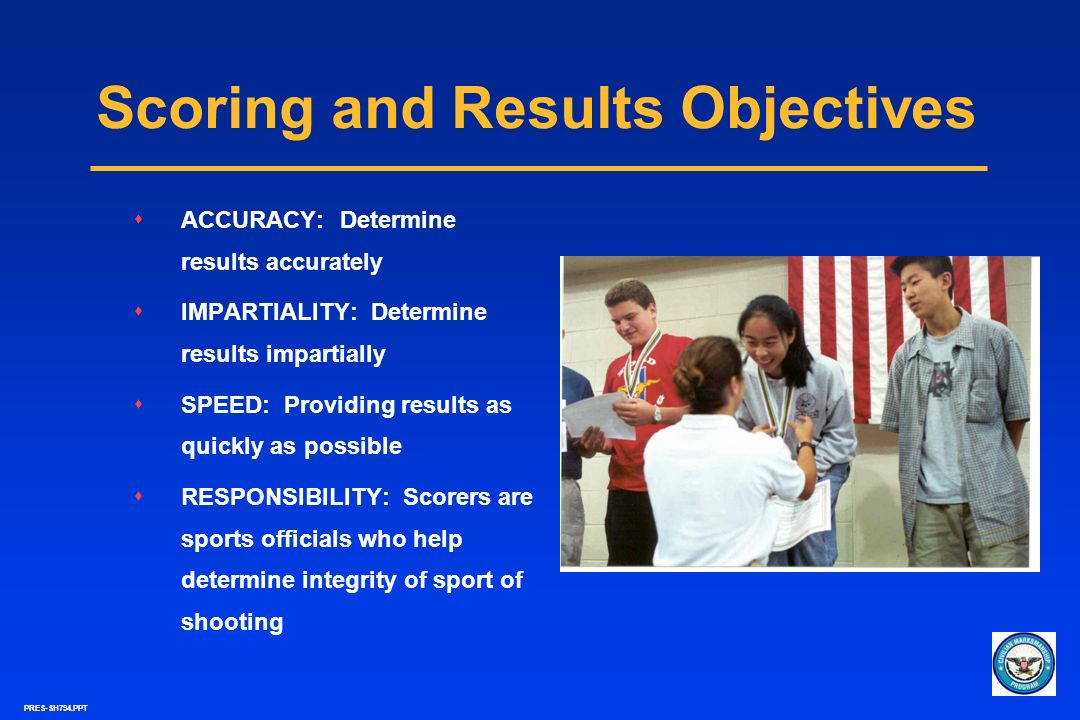 Scoring and Results Objectives