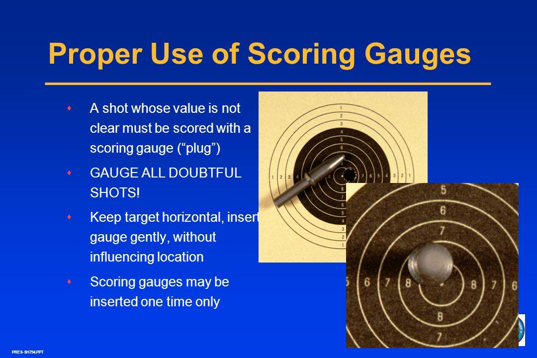 Proper Use of Scoring Gauges
