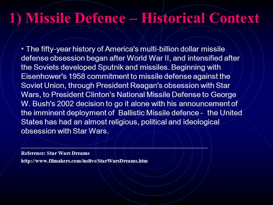 1) Missile Defence – Historical Context