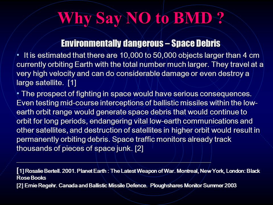 Environmentally dangerous – Space Debris