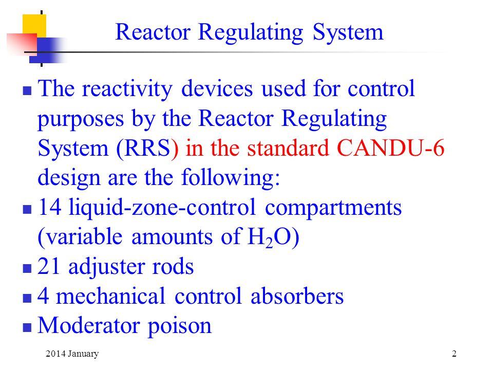Reactor Regulating System