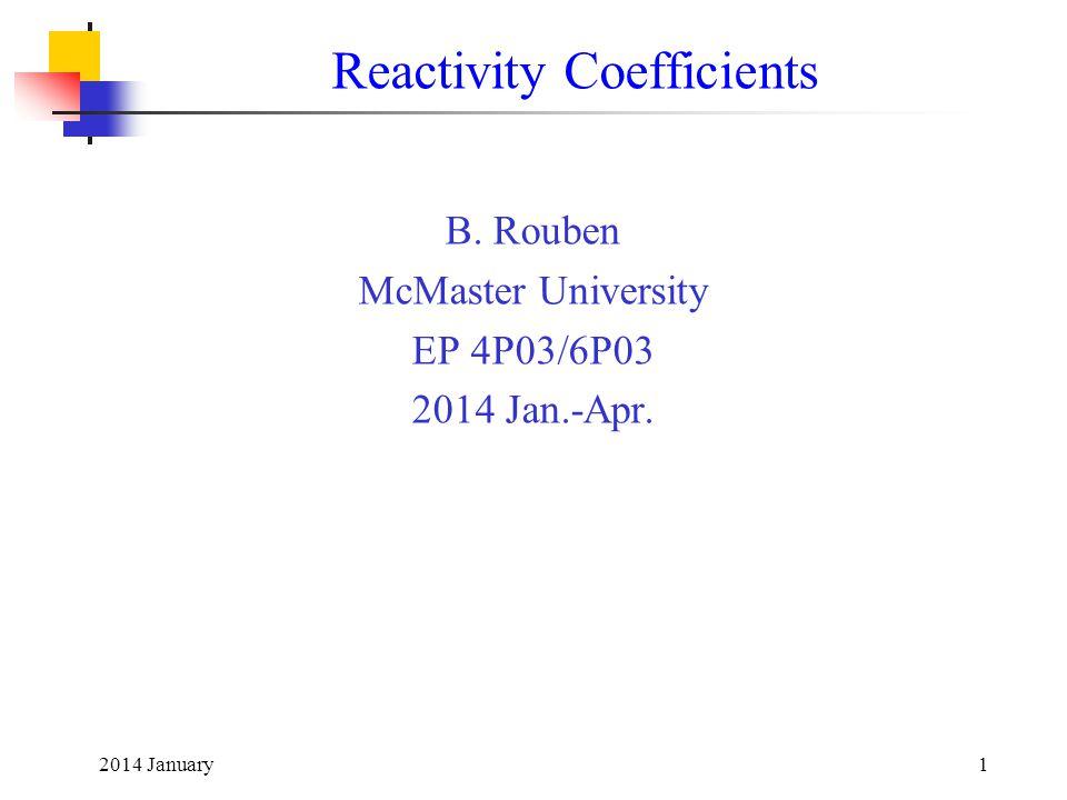 Reactivity Coefficients