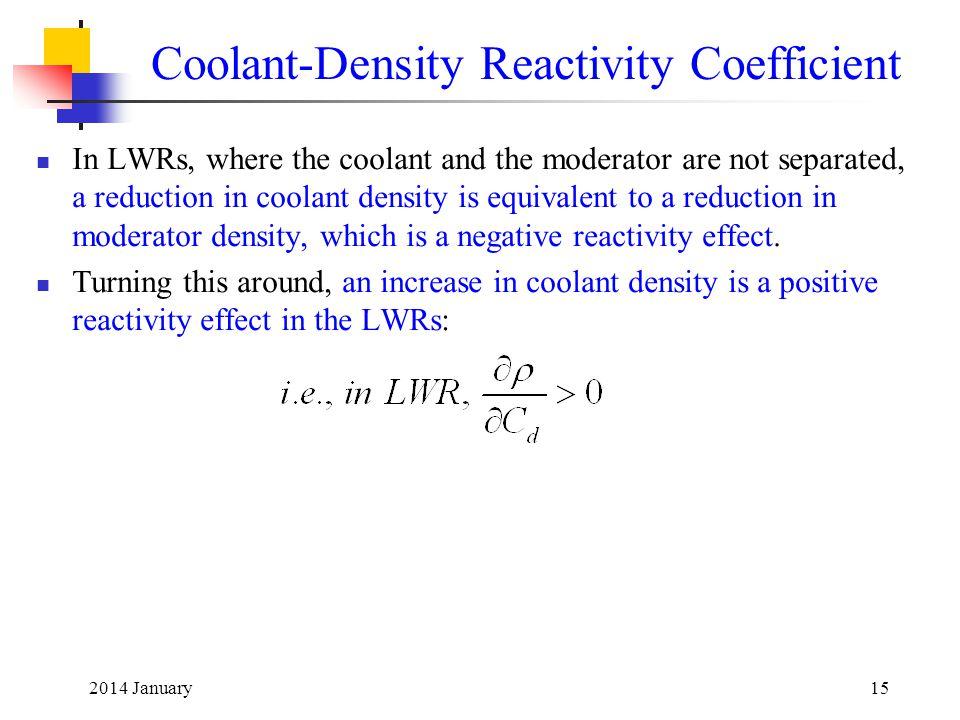 Coolant-Density Reactivity Coefficient