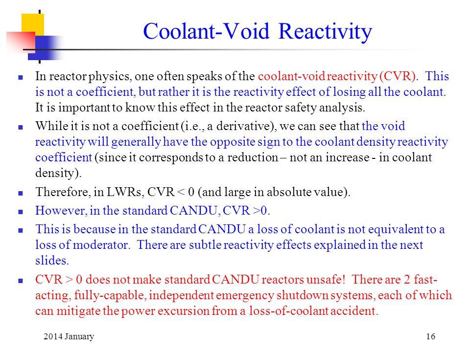 Coolant-Void Reactivity
