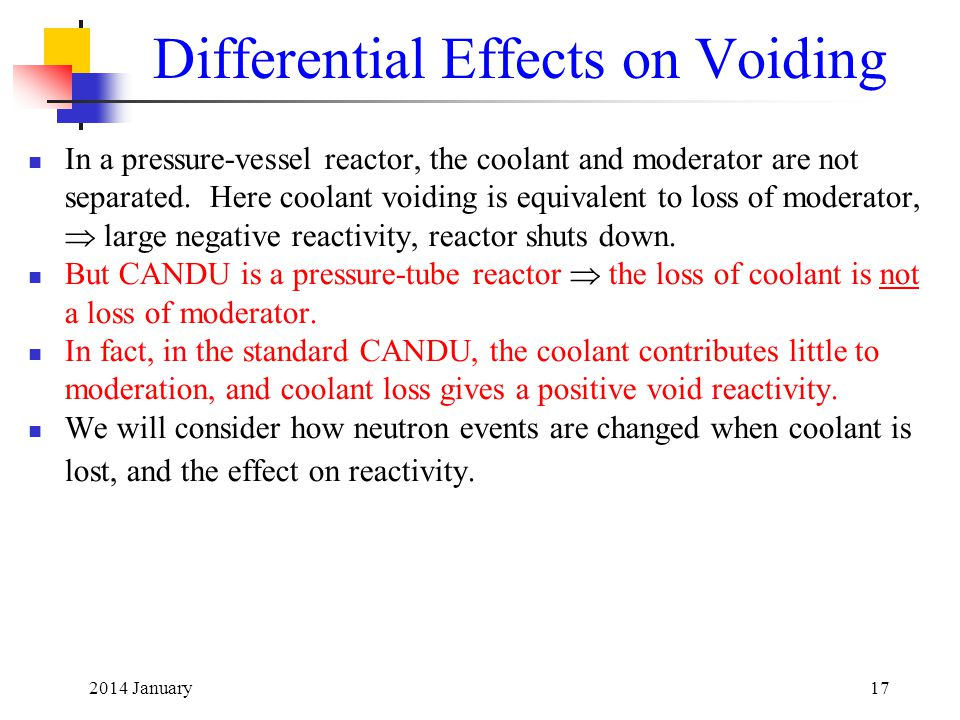 Differential Effects on Voiding