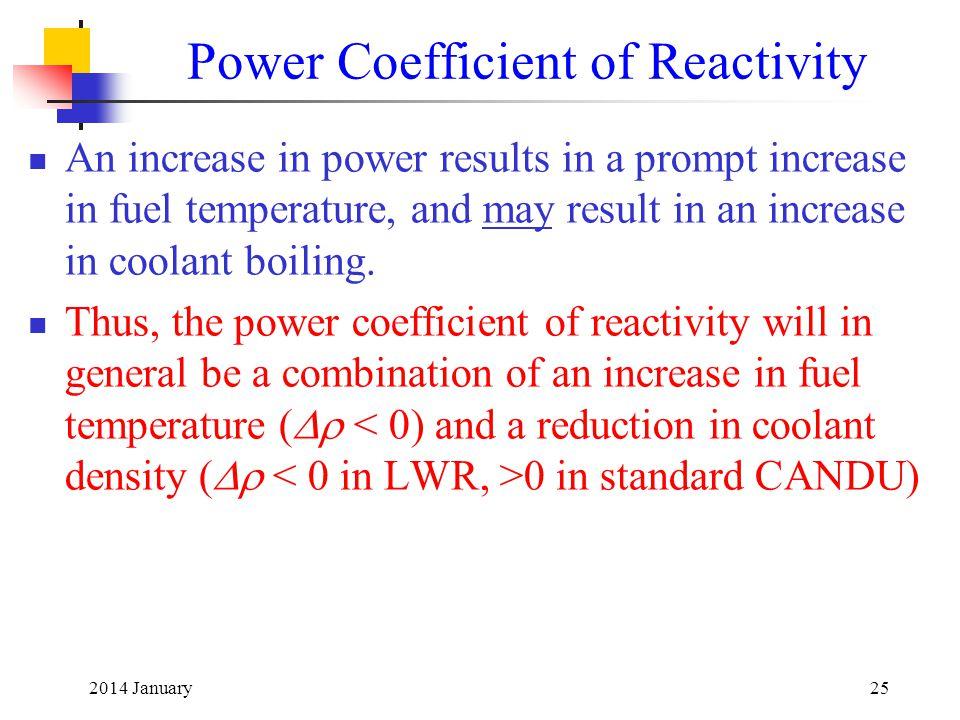 Power Coefficient of Reactivity