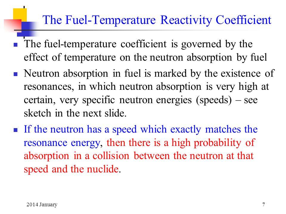 The Fuel-Temperature Reactivity Coefficient