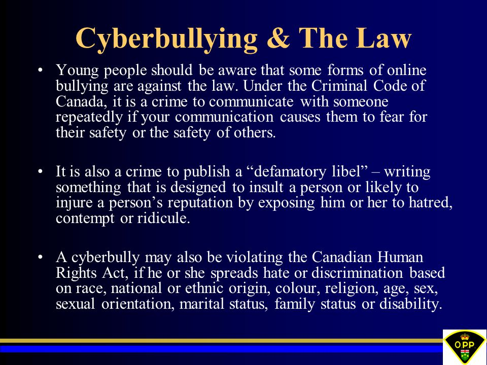 Cyberbullying & The Law