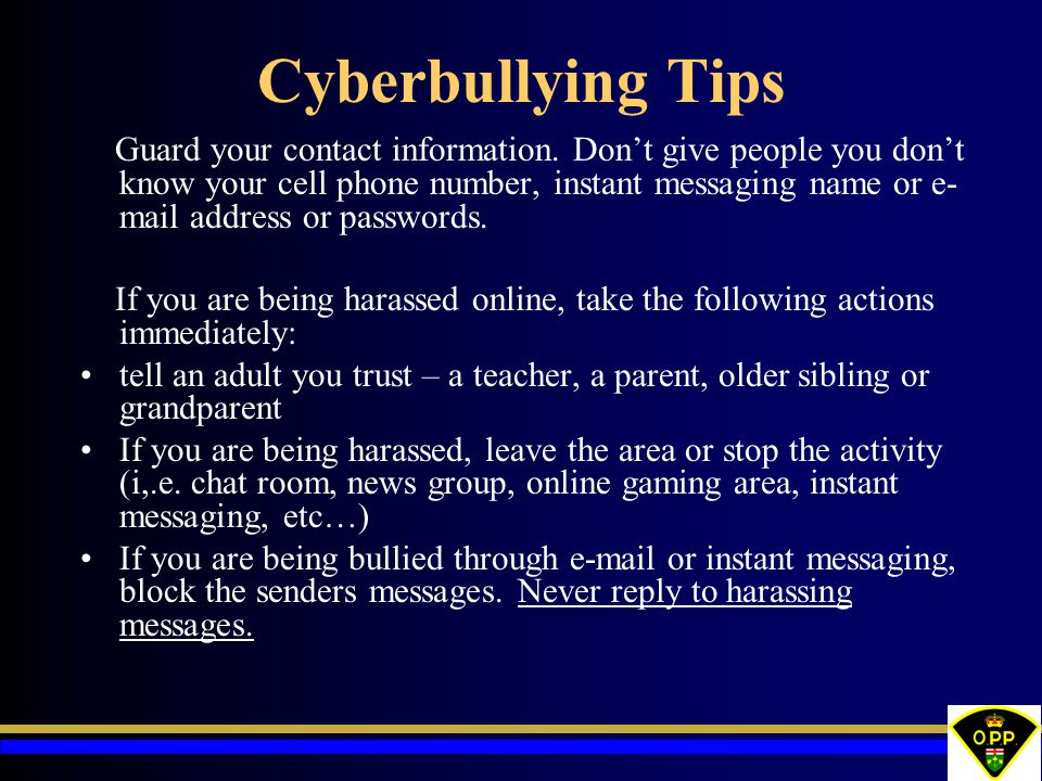 Cyberbullying Tips