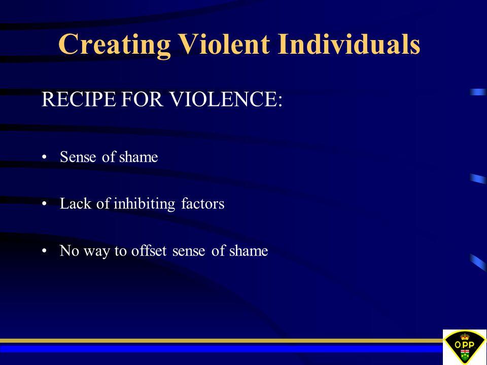 Creating Violent Individuals