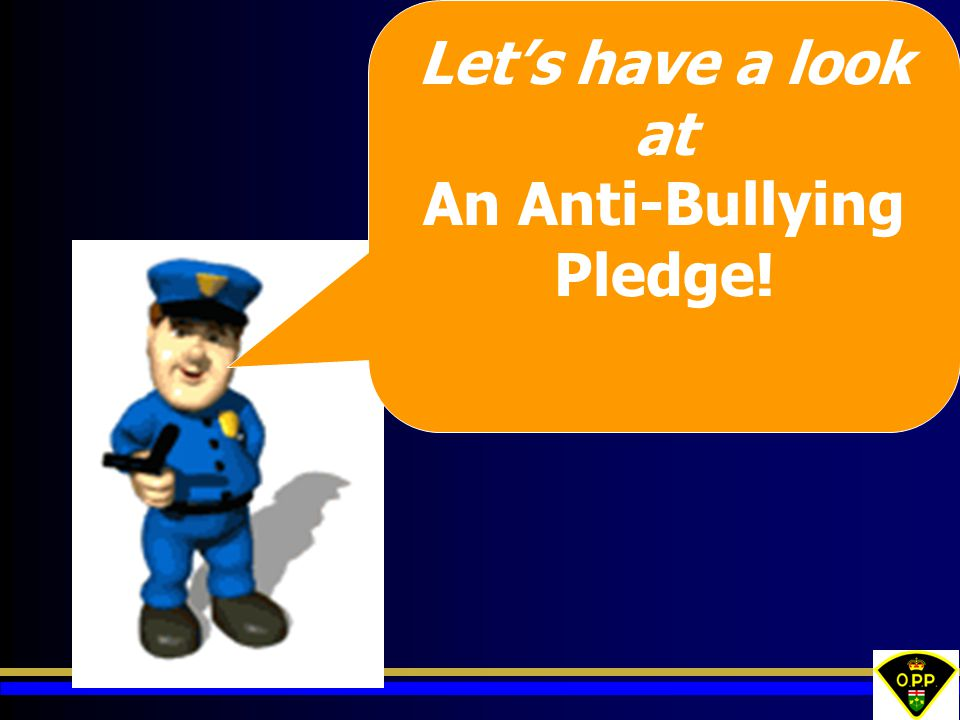 An Anti-Bullying Pledge!